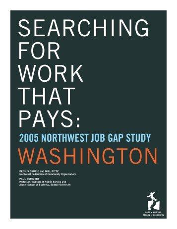 2005 NORTHWEST JOB GAP STUDY - Alliance for a Just Society