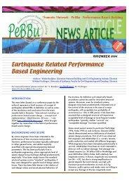 Earthquake Related Performance Based Engineering
