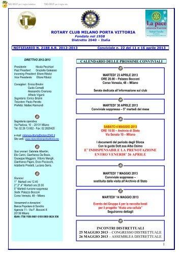 26 aprile incontri distrettuali 25 maggio 2013