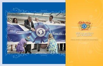 Download the 2012 Annual Report - Arkansas Children's Hospital