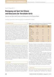 Bewegung und Sport bei ektasie und Aneurysma der thorakalen Aorta