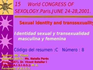 Transexualidad. XV Congreso Mundial sexología. - Dr. Vicent Bataller