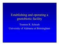 Establishing and operating a gnotobiotic facility - Taconic