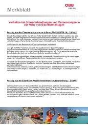 Vermessungswesen Info 1/2014 - Beilage Merkblatt ÖBB