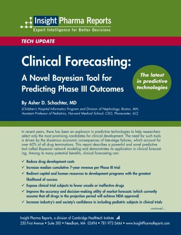 Clinical Forecasting.qxp - Insight Pharma Reports