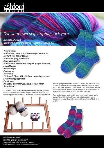 Dye your own self striping sock yarn - Ashford Handicrafts