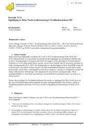 Oppfølging av Helse Nords kvalitetsstrategi - Nordlandssykehuset