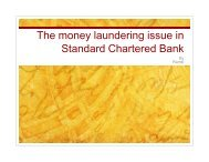 The money laundering issue in Standard Chartered Bank