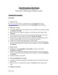 Inscription et utilisation sécuritaire de Facebook + démonstration