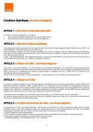 Conditions Spécifiques Conditions Spécifiques Les ... - Orange mobile