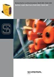 Sicherheits-Lichtschranken SLB 200 / SLB 400 - Schmersal