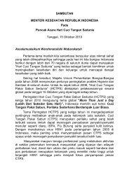 SAMBUTAN MENTERI KESEHATAN REPUBLIK INDONESIA Pada ...