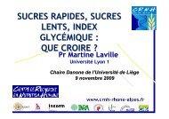 sucres rapides, sucres lents, index glycémique - Danone Institute