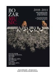 La saison 2008-2009 de BOZAR MUSIC (1) - Bozar.be