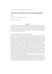 Discrete-continuous and classical-quantum