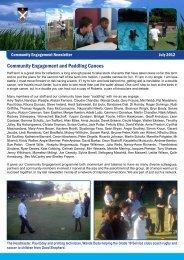 Community Engagement Newsletter July 2012