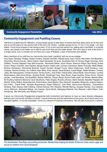 Community Engagement Newsletter July 2012