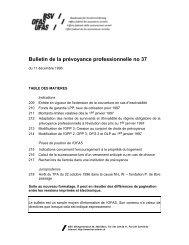 Bulletin de la prévoyance professionnelle no 37 - admin.ch
