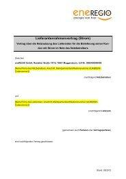 Lieferanten-Rahmenvertrag - Eneregio