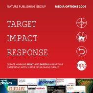 TARGET IMPACT RESPONSE - Nature Publishing Group
