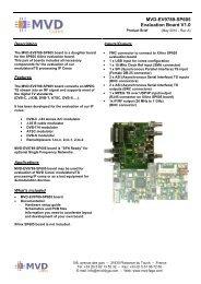 MVD-EV9789-SP605 evaluation board