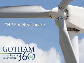 CHP For Healthcare - Energetics Meetings and Events
