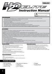 Instruction Manual - High Definition Radio Control