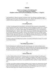 Entwurf Dritte Verordnung zur Durchführung des Gesetzes zum Schutz ...