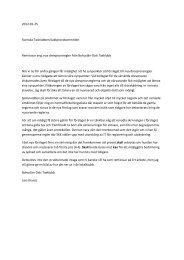 Drevprovsregler remissvar från lokalklubbarna - Svenska Taxklubben