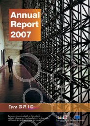 Annual report for download - CoreGRID Network of Excellence
