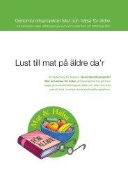 Lust till mat på äldre dar - NLLplus.se, Norrbottens Läns Landsting