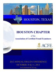 2013 Houston Chapter Conference Brochure - Association of ...