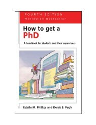 How to Get a PhD - Western Washington University