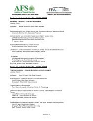 AFS2010Abstracts081610-program final (2) - Financial Planning ...