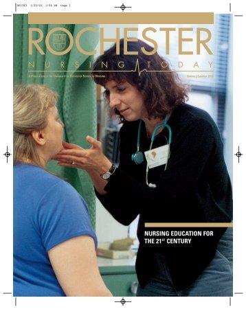 nursing education for the 21st century - University of Rochester ...