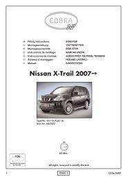Nissan X-Trail 2007 - Cobra-SOR