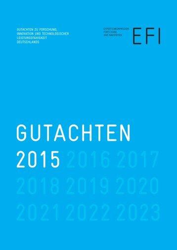 EFI_Gutachten_2015_Kurzfassung