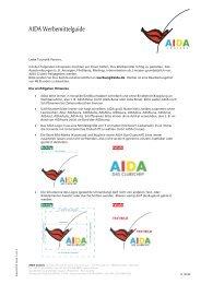 AIDA Werbemittelguide - AIDA Cruises