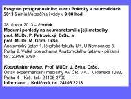 Přednáška - NEUROVĚDY (28.2.2013) - Anatomický ústav 1.LF UK