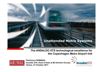 Unattended Metro Systems - Data Interchange for Air-Rail Managers