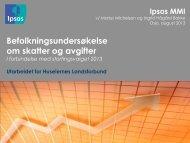 Befolkningsundersøkelse om skatter og avgifter - Huseiernes ...