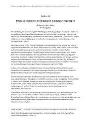 Interaktionsmuster in bilingualen Kindergartengruppen - Deutsche ...