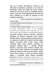 Acta de la Sesión extraordinaria número 8 del ... - Guanajuato