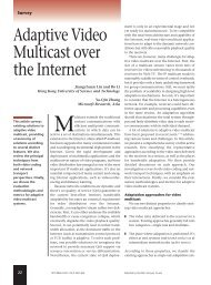 Adaptive video multicast over the internet - Multimedia, IEEE