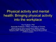 Physical activity and mental health - CAMH Knowledge Exchange