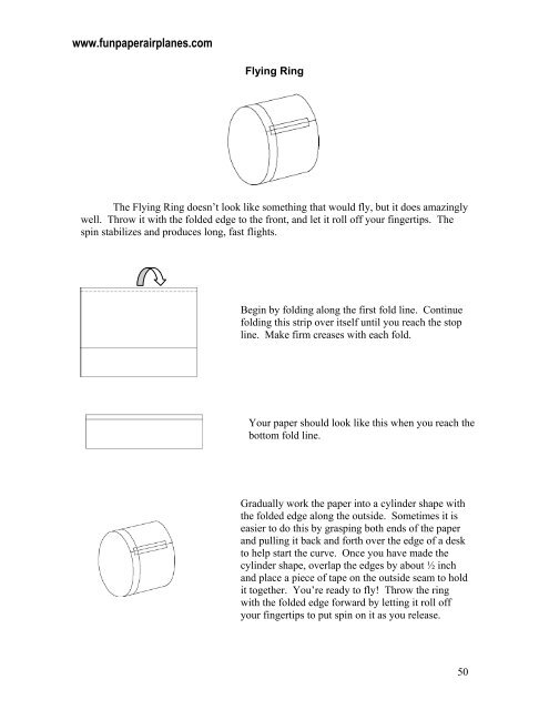 Flying-Ring - Fun Paper Airplanes