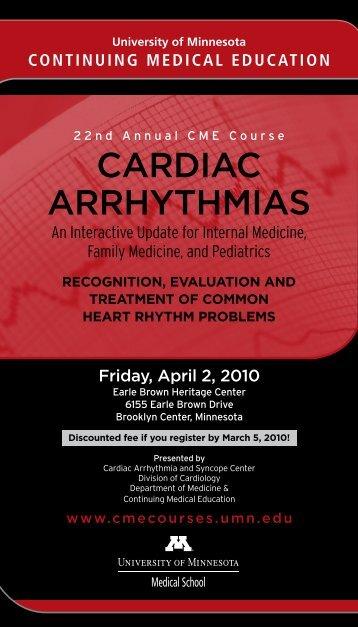 cardiac arrhythmias - University of Minnesota Continuing Medical ...