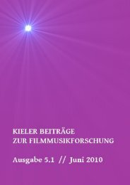 Download Kieler Beiträge zur Filmmusikforschung 5.1, Juni 2010