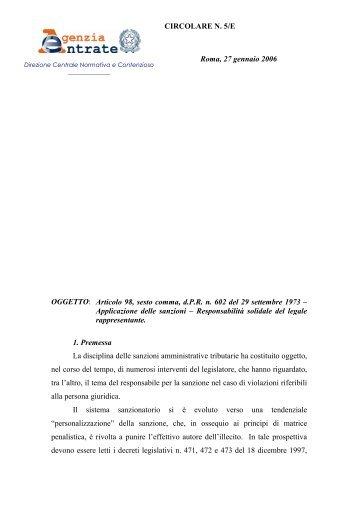 Sanzioni amministrative - Dirittoefinanza.it