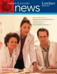 Network & Provider News Summer 2008 - Lovelace Health Plan